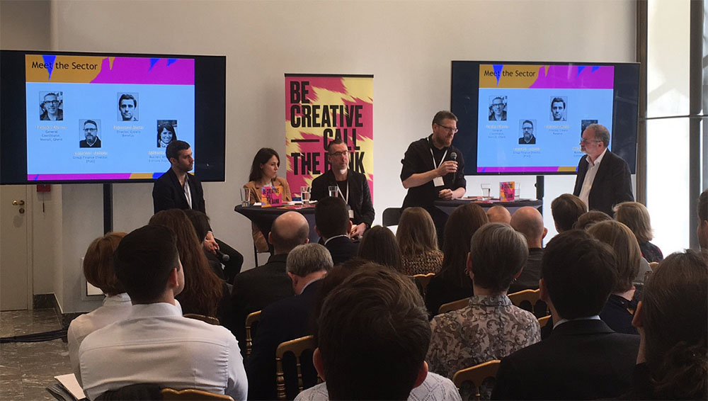 Picture of the panel debate of the Be Creative - Call the Bank seminar